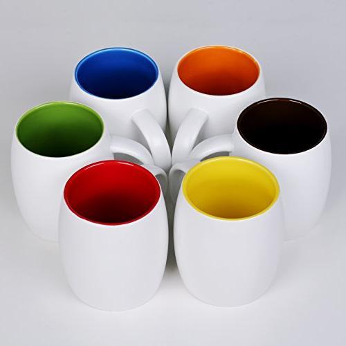 DOWAN Ounce Mug Sets 6 with Colors - Refrigerator Safe