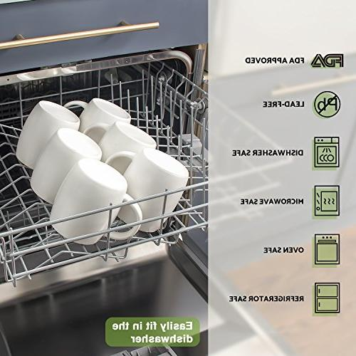 DOWAN Ounce Mug Piece with Inner Colors - Dishwasher Refrigerator