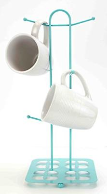 Mug Tree Holder 6 Cups Coffee Tea Cup Rack Storage Stand Org