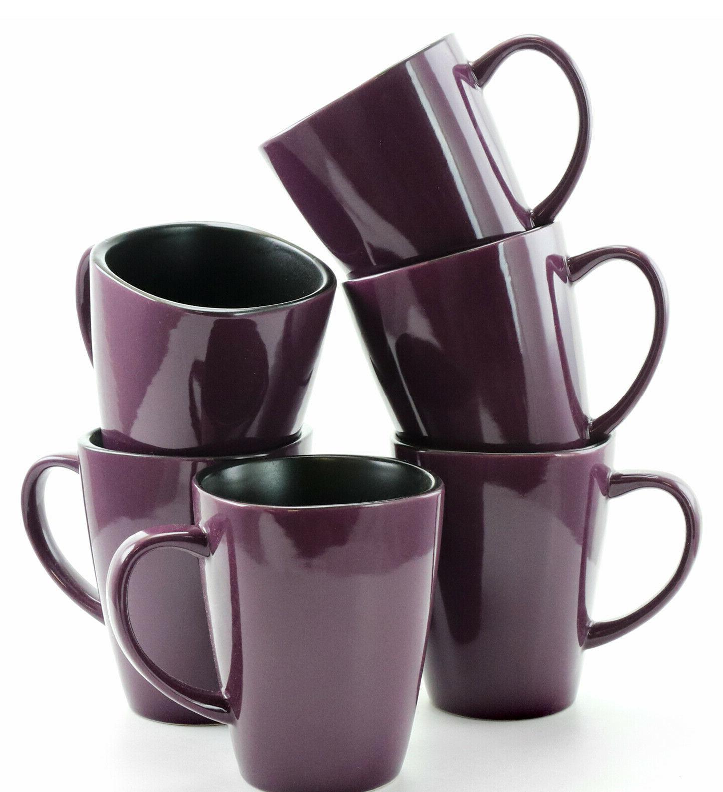 Elama Mulberry Stoneware Mugs