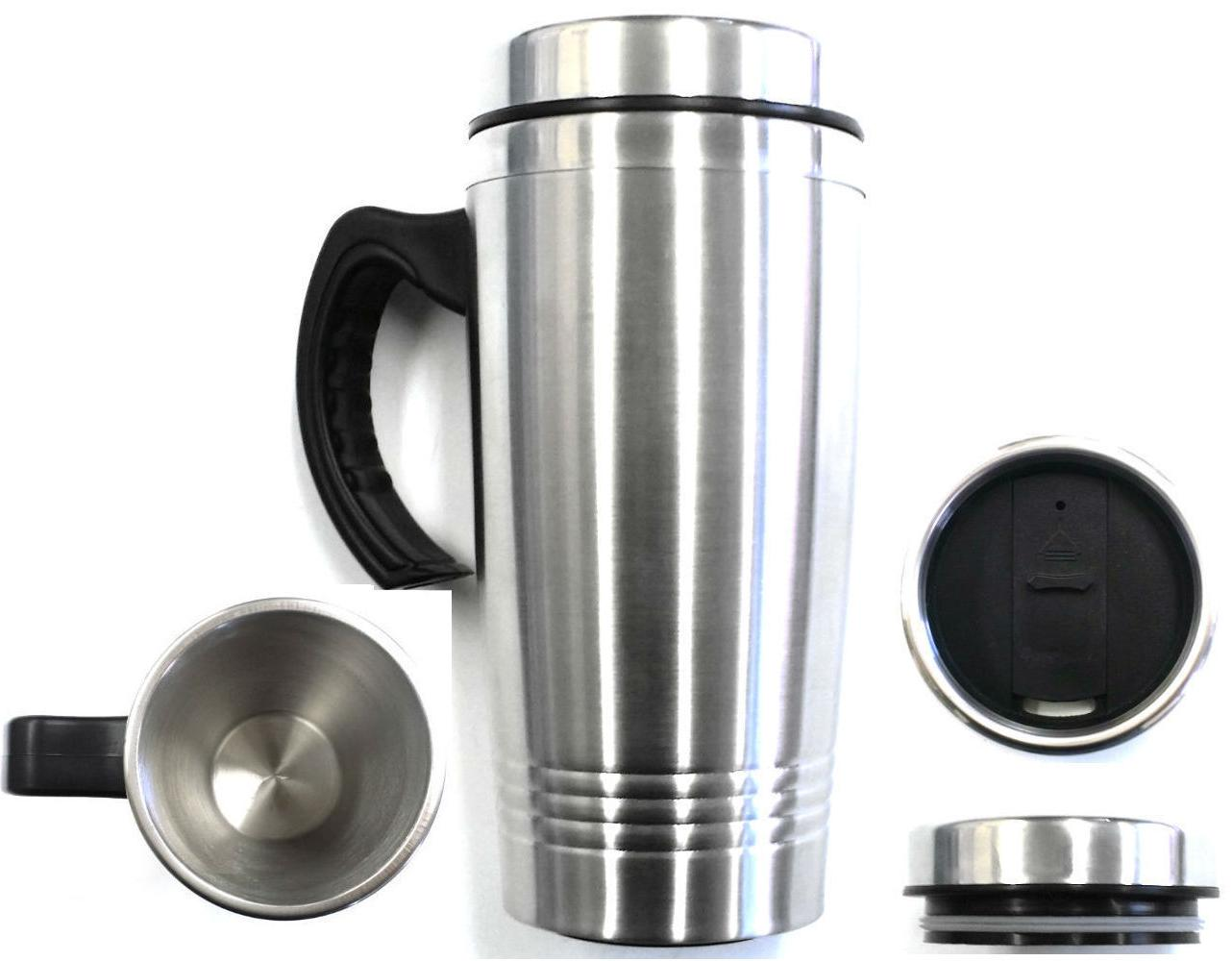 New 16OZ Coffee Cup Handle Insulated Thermos