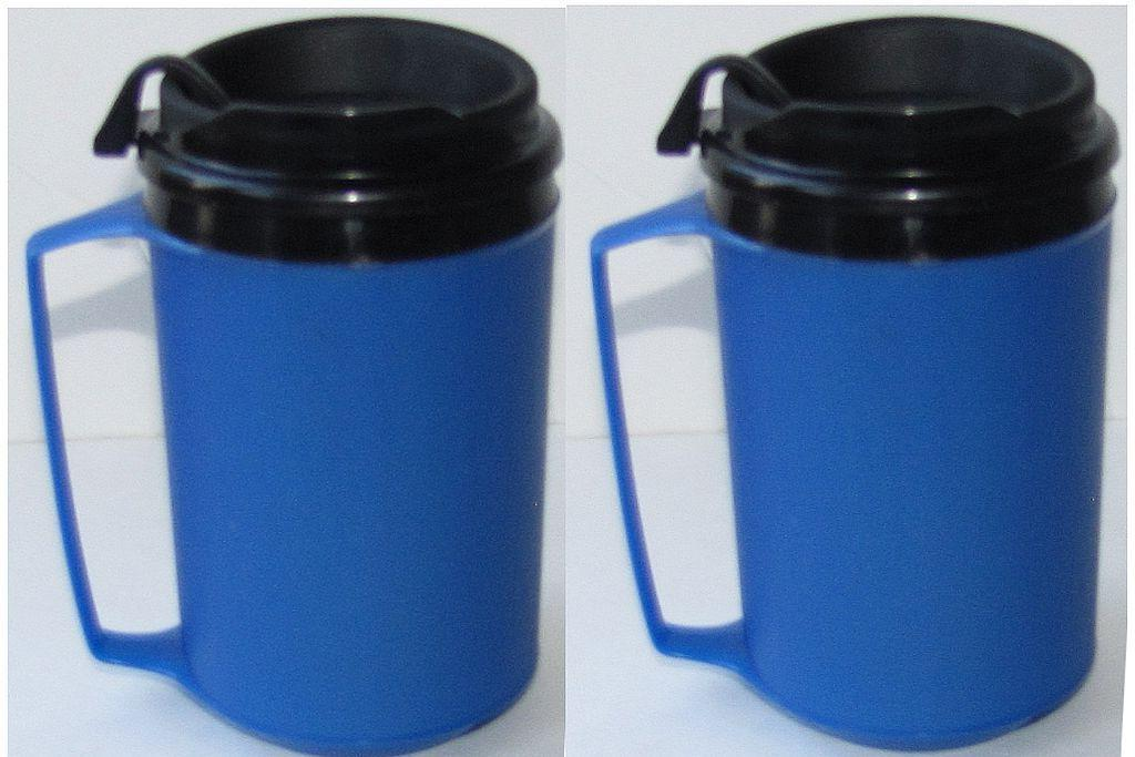 NEW 2 Insulated Mugs Classic Aladdin Molds ThermoServ 12 oz