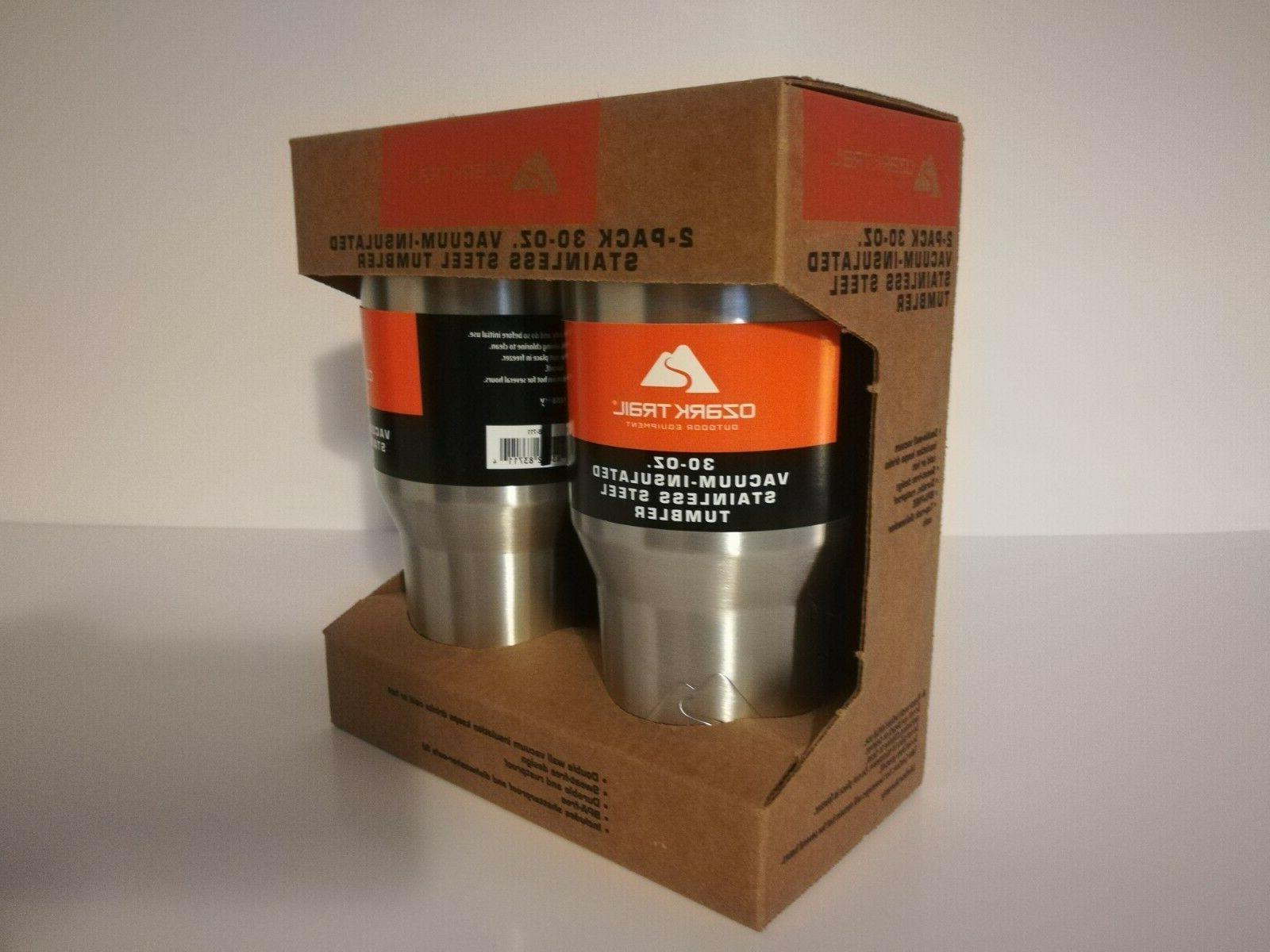 NEW Ozark 2 Pack 30 oz Vacuum Insulated Steel Tumbler Coffee Mug