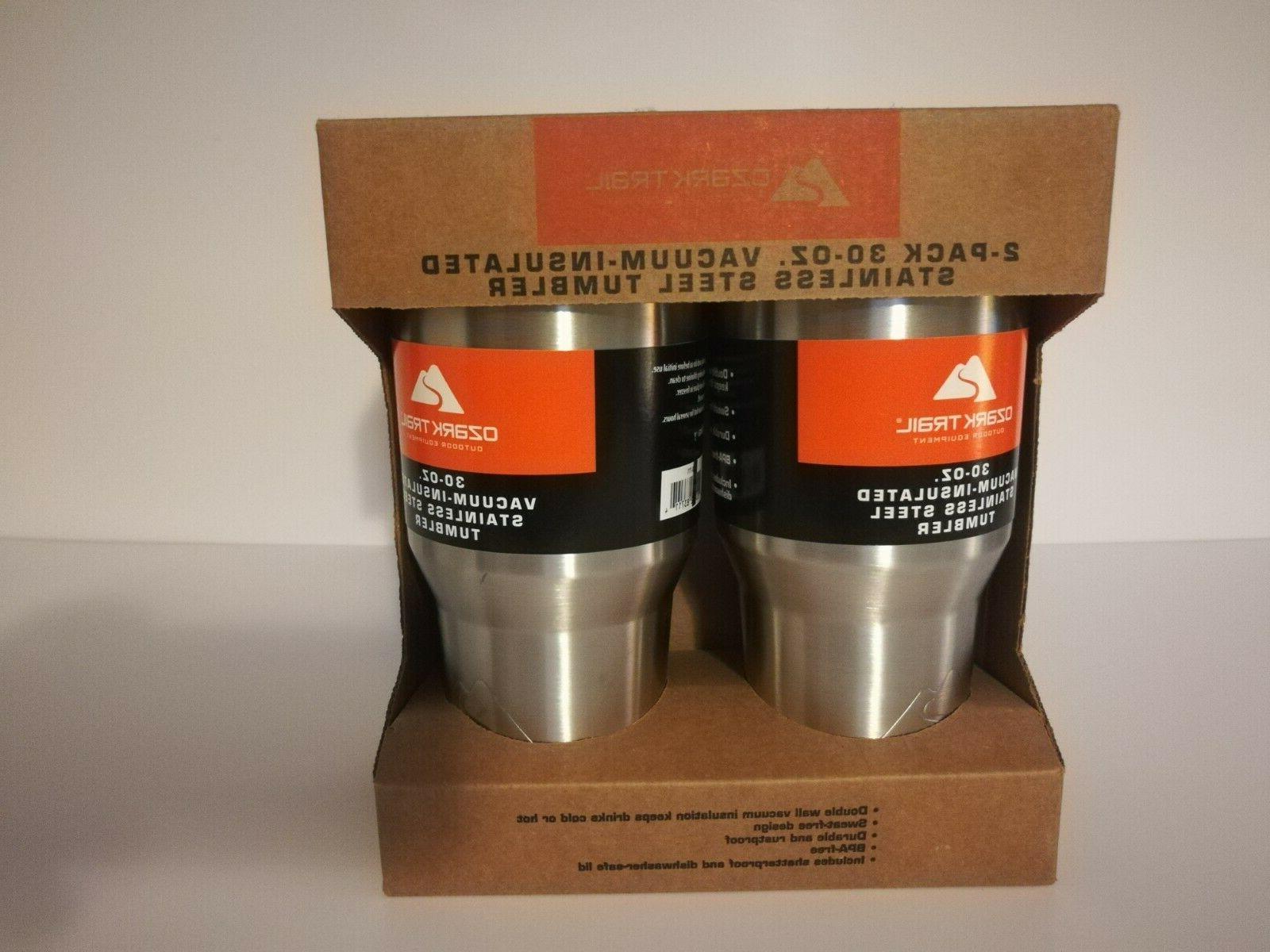 NEW Ozark Trail Pack oz Vacuum Insulated Stainless Steel Tumbler Coffee Mug