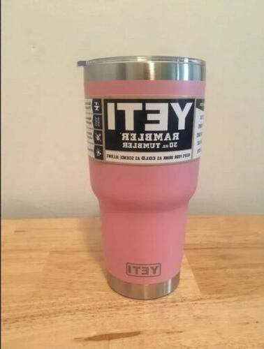 New Yeti 30oz Tumbler coffee Duraoat with lid.