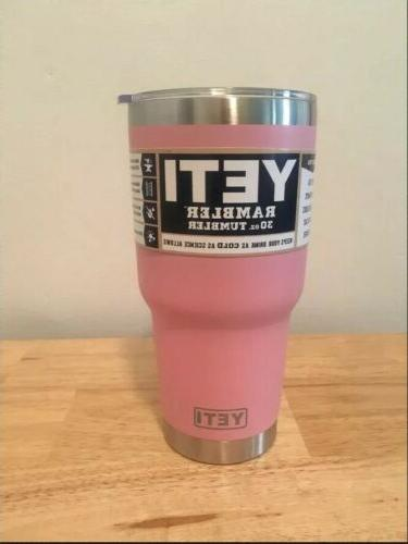 new 30oz pink tumbler rambler coffee mug