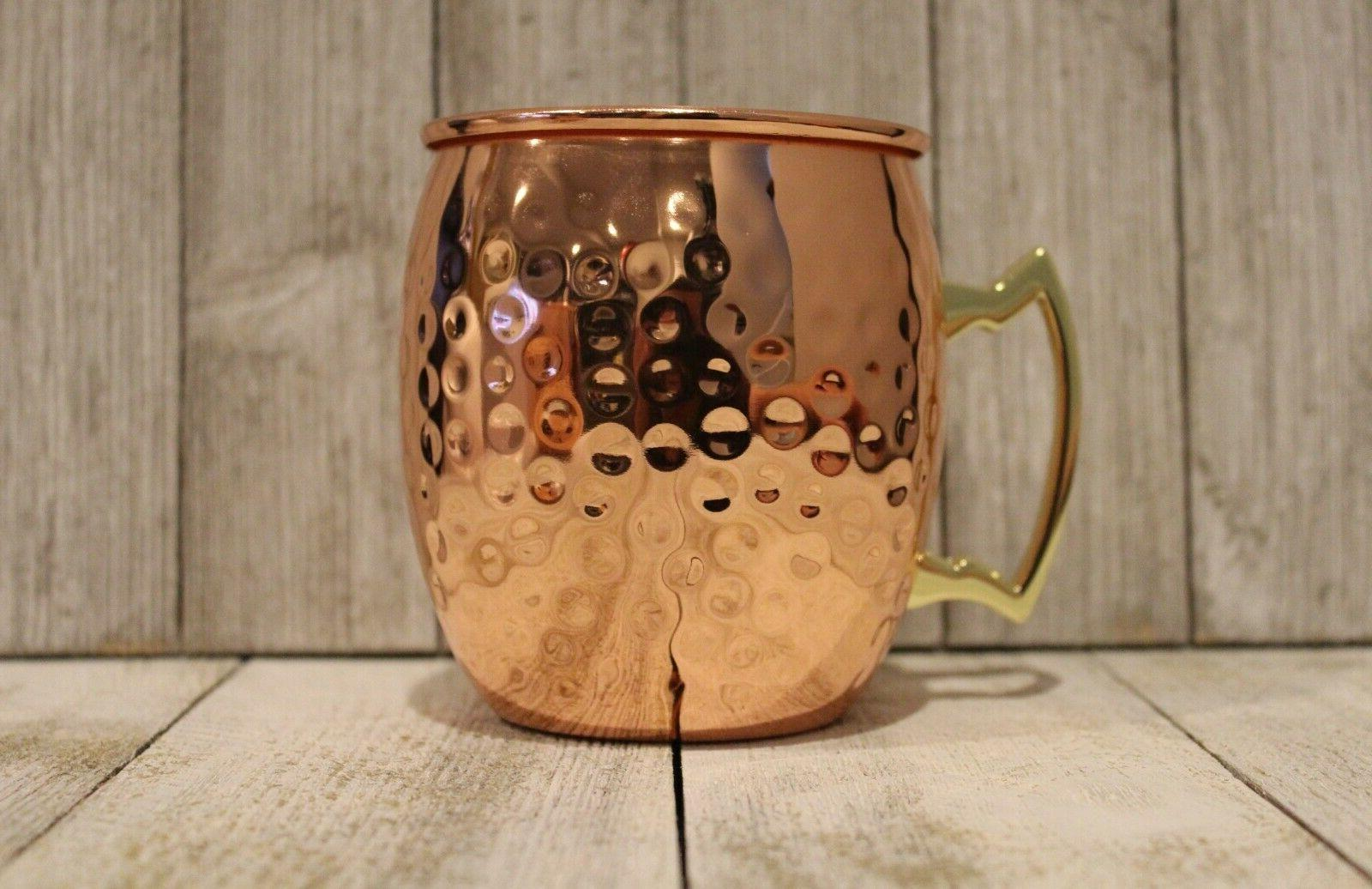 Mugs Copper Brass 16 Bar 4 per 4x