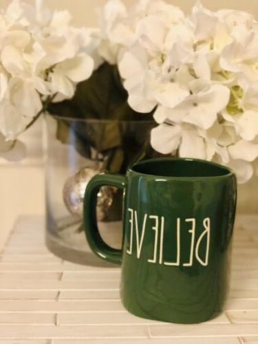 new believe 2019 christmas green mug vhtf