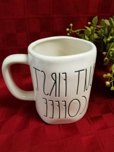 """New"" Rae Dunn Magenta ""BUT FIRST Mug/Cup"