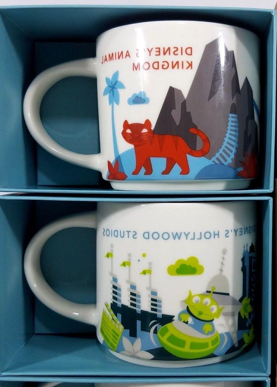 NEW Starbucks Disney Mug Ceramic 14oz - ALL 4