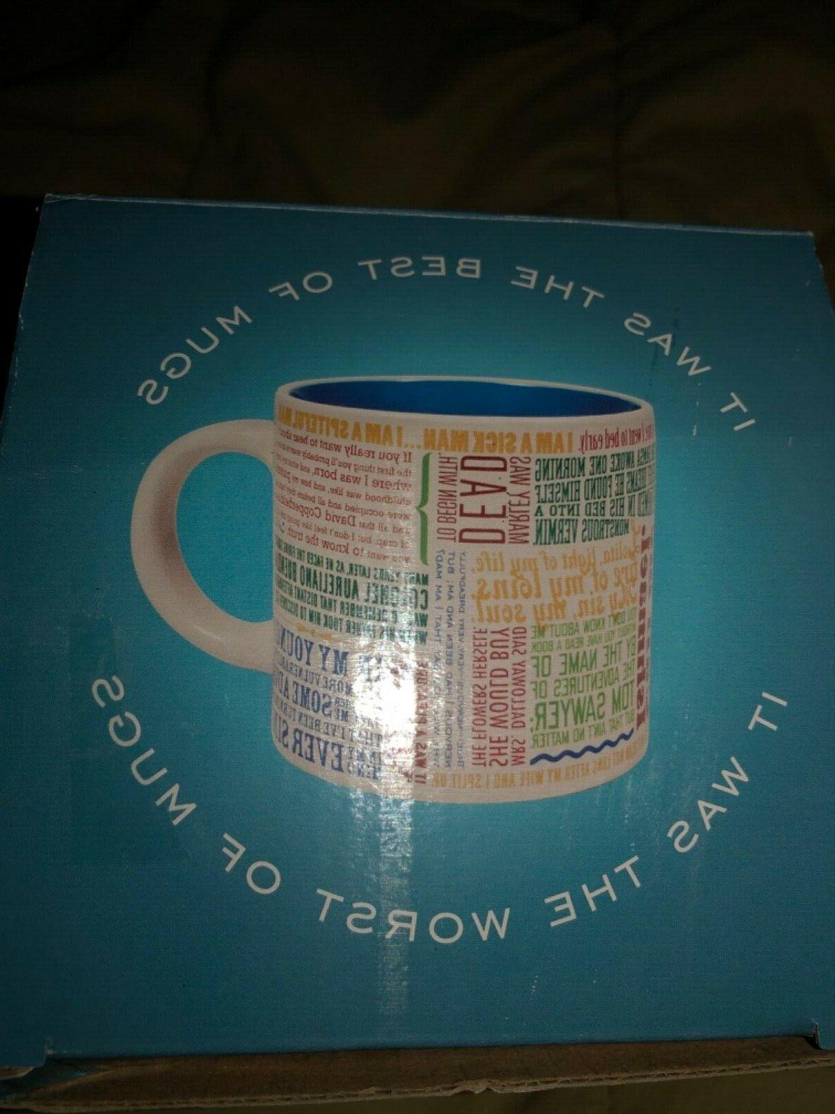 NIB 12oz COFFEE MUG Guild First Lines Literat