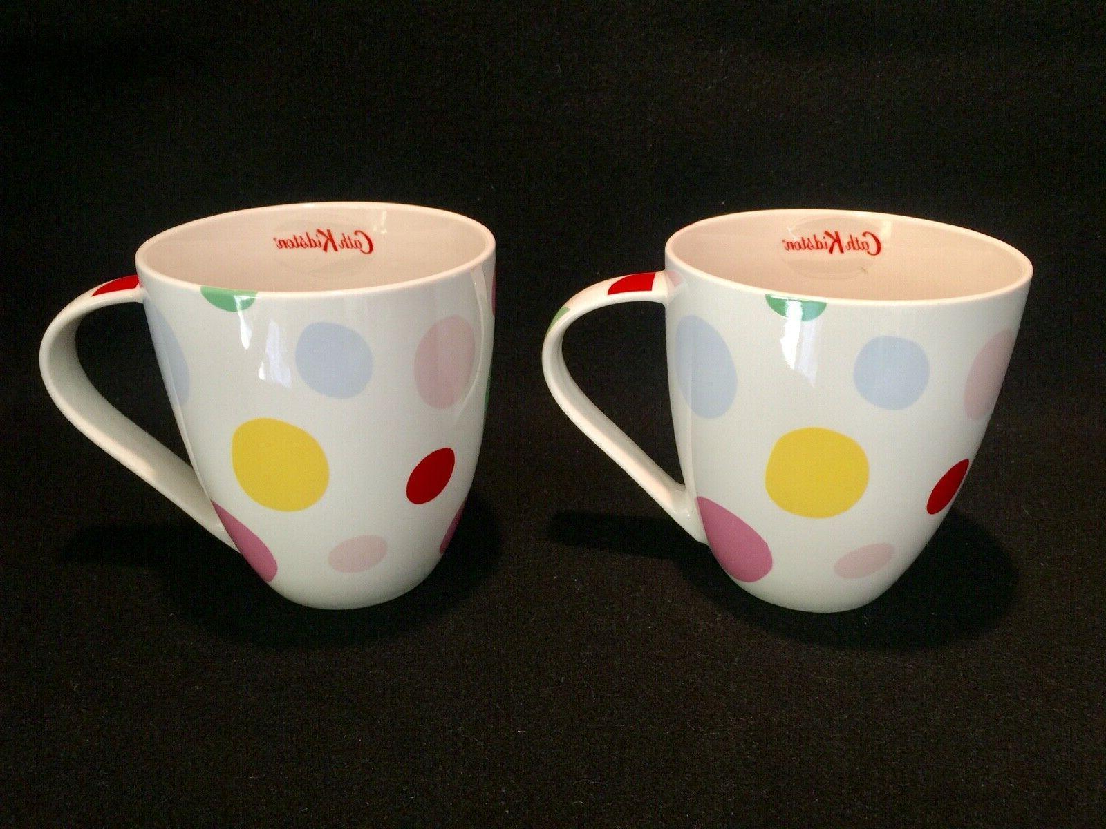 nwt 2 large crush mugs bubbles pattern