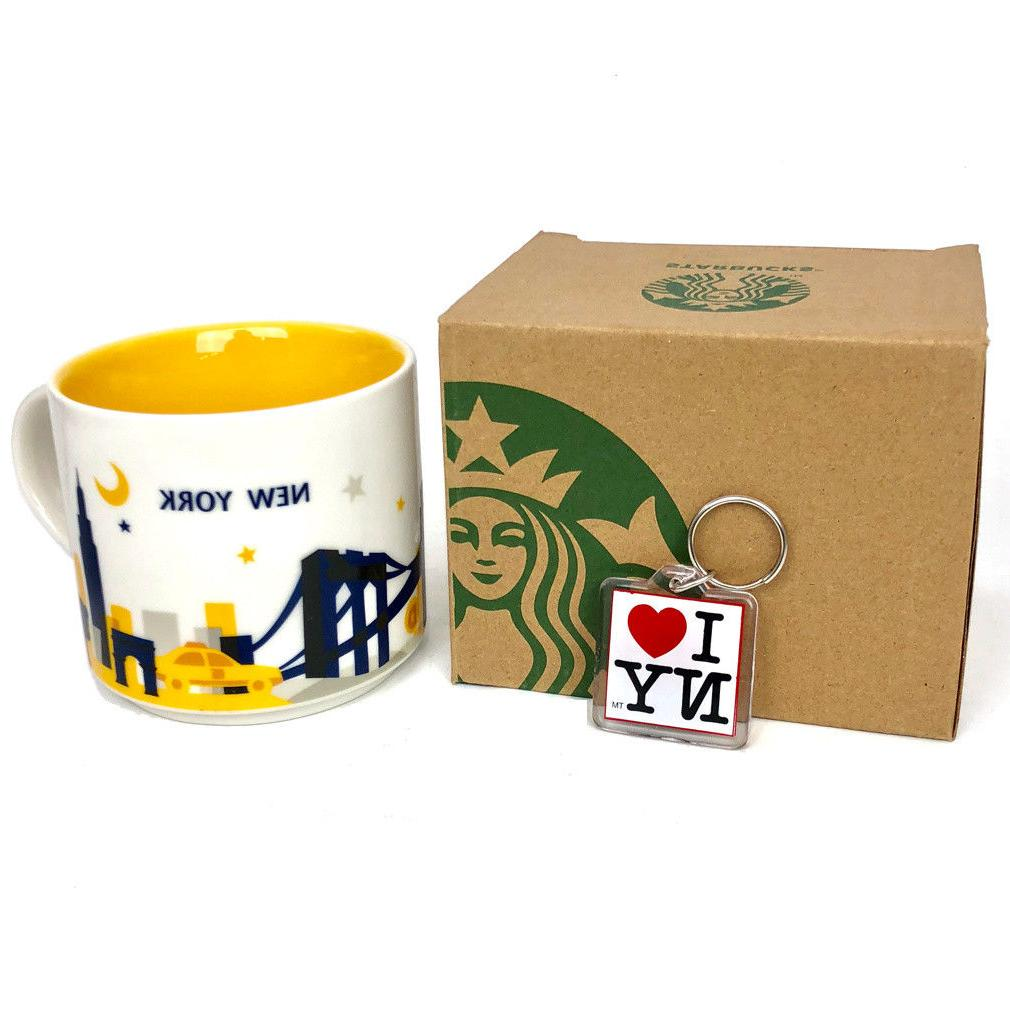 NYC Starbucks Mug New York City 14 Oz NY Mugs You Are Here C