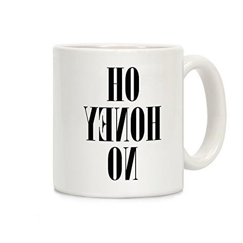 oh honey white ceramic coffee