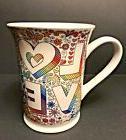Hallmark Open Road Hippie Love Hearts Peace Sign Coffee Tee