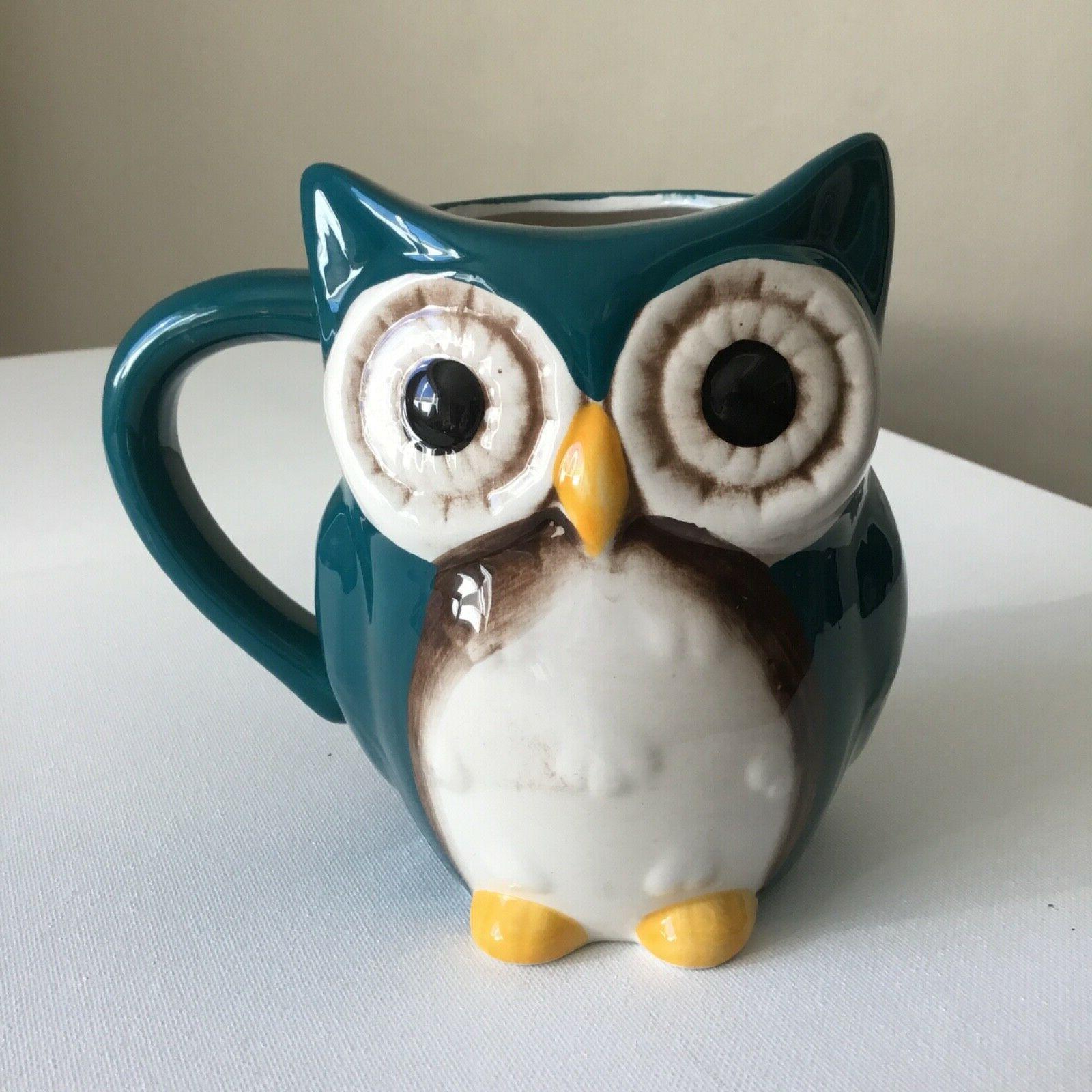 owl coffee tea mug 5 5 tall