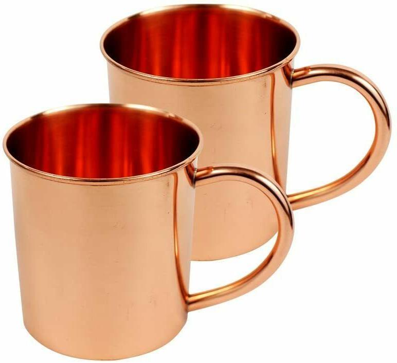 pack of 2 copper mug mugs unlined