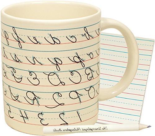 penmanship coffee mug
