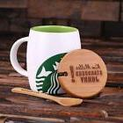 Personalized 16oz. Ceramic Starbucks Mug w/ Bamboo Lid & Spo