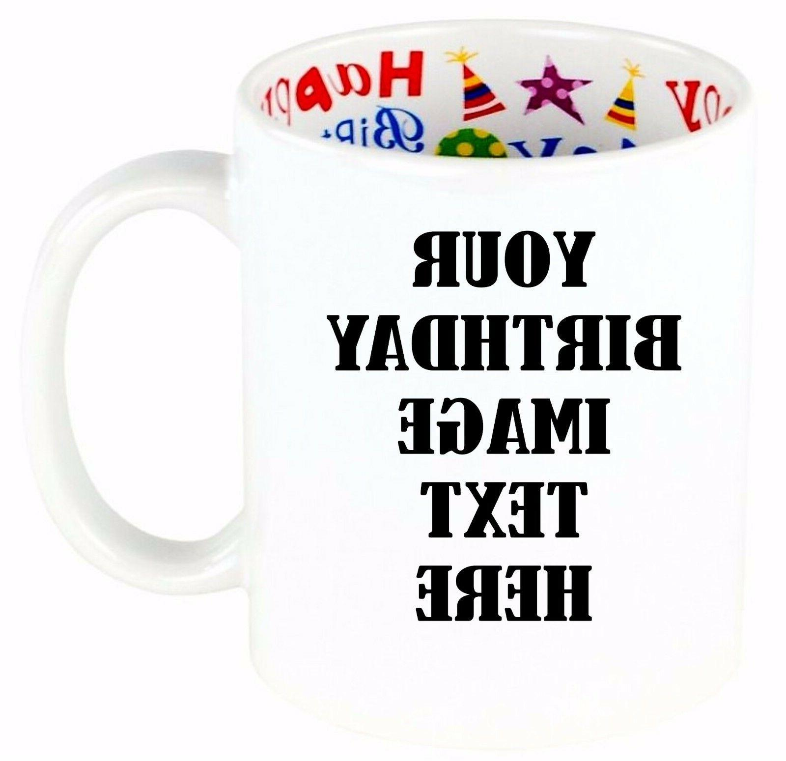 personalized coffee mug custom photo text logo
