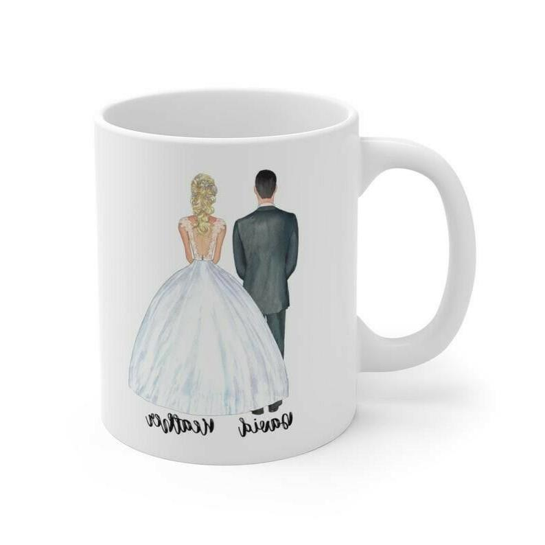 Personalized Mr and Mugs, Custom Portrait