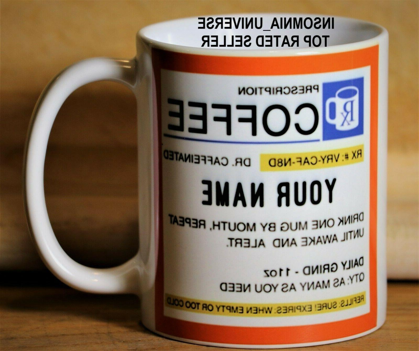 personalized prescription coffee mug perfect gift