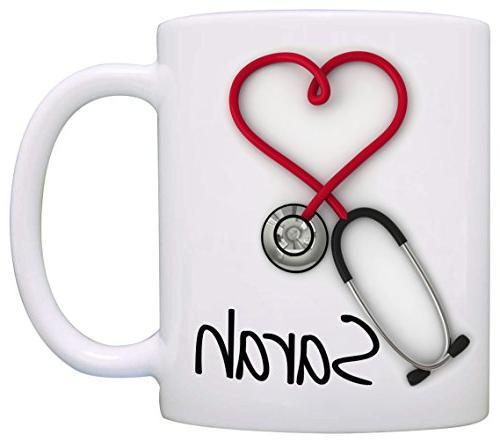 personalized stethoscope coffee mug funny unique gift nurses
