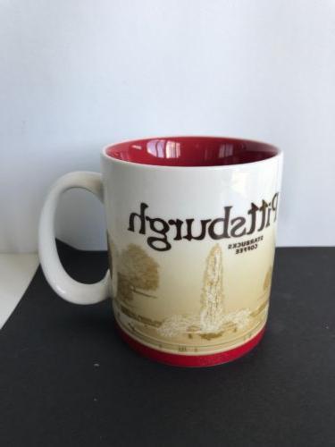 Starbucks Pittsburgh 16 oz Mug Red Global Icon City Collecto