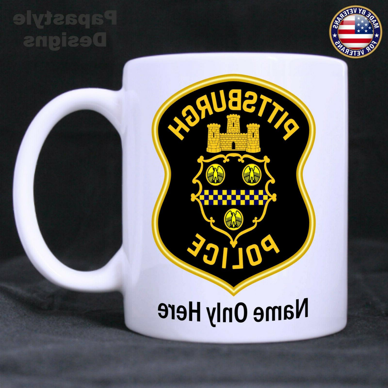 Pittsburgh Police 11oz Mug. Made in the