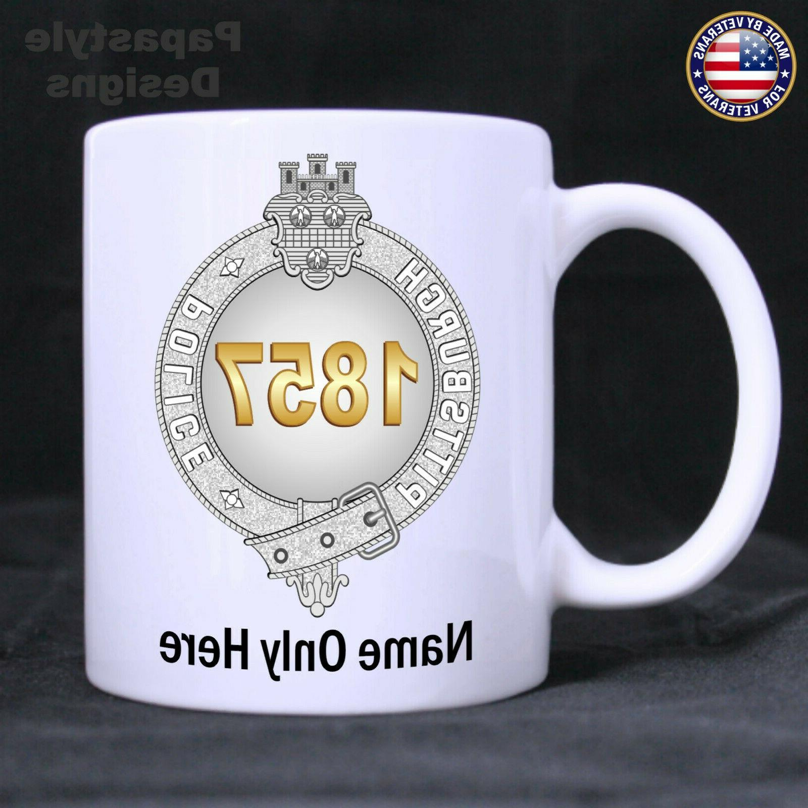 pittsburgh police officer personalized 11oz coffee mug