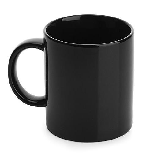 YHY 12 oz Porcelain Mugs for Coffee, Black