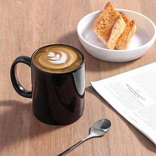 YHY Porcelain Mugs for and Coffee, Black
