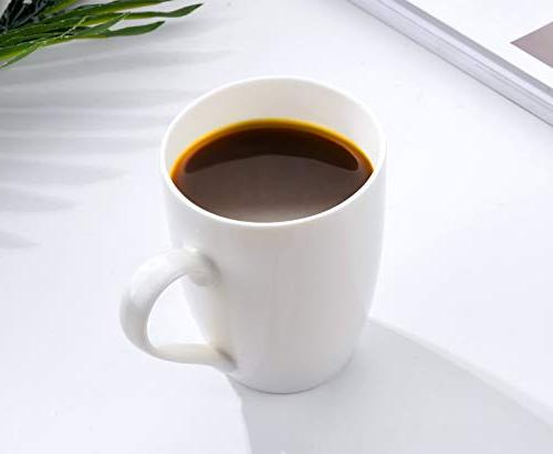 MIWARE Ounce Mugs, Set 6, Tea and Coffee Mug Set, White