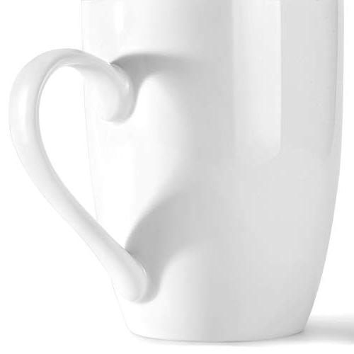MIWARE 12 Ounce Porcelain Tea and Set, White