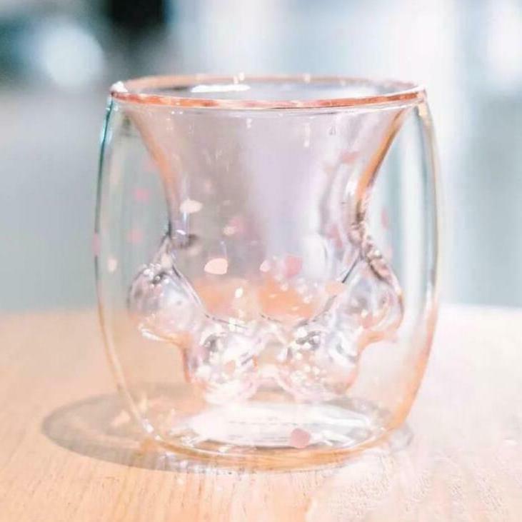 Pre-Order Sakura Cat Glass Mug Starbucks