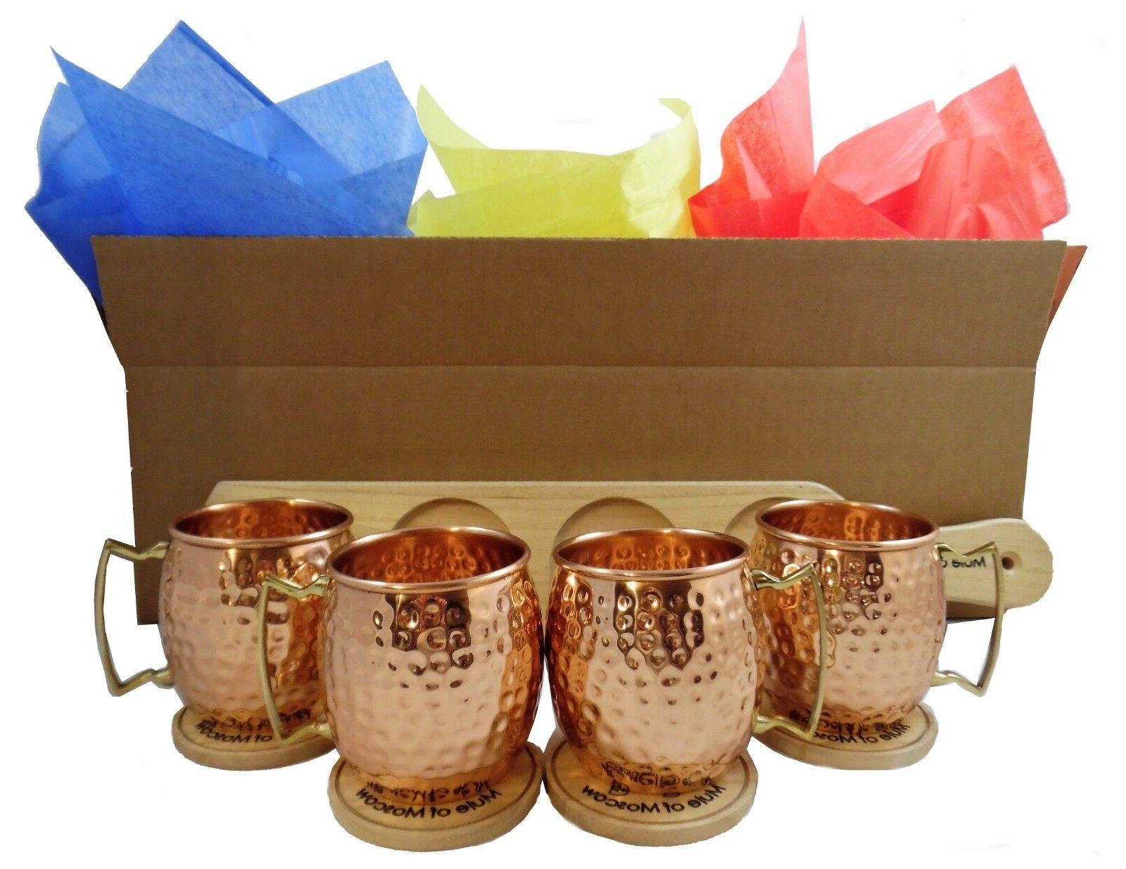 Pure Hammered Mule Gift with 4 4 Tray