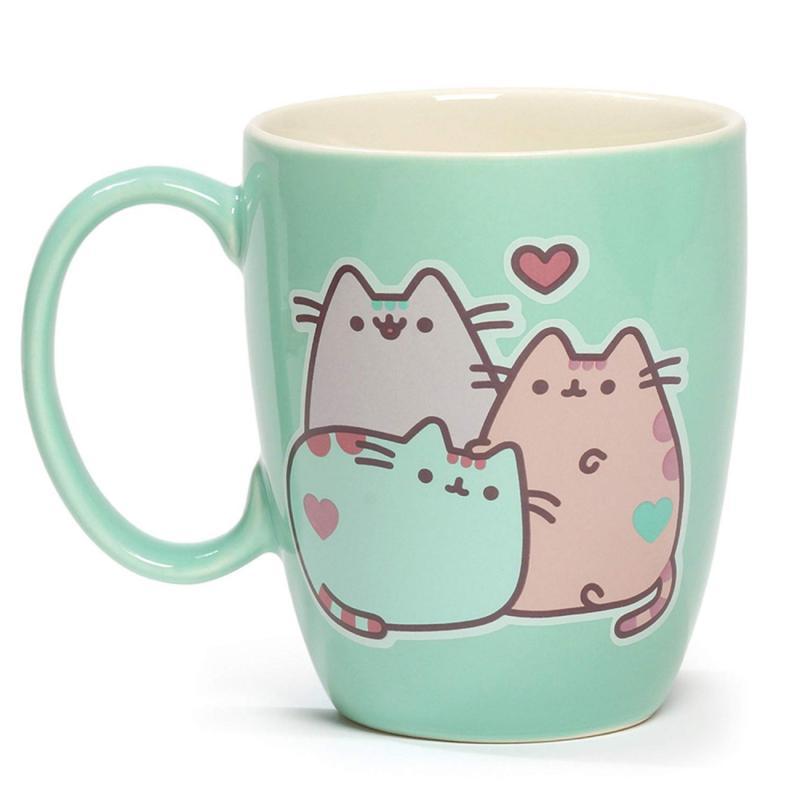 pusheen the cat pastel stoneware mug 12