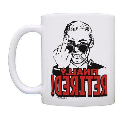 Retiree Gifts for Men Finally Retired Mug Funny Retirement C