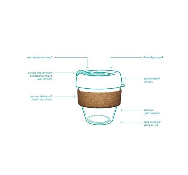 KeepCup Coffee Cup & Mugs Toughened Glass kitchen lightweight safe 16oz