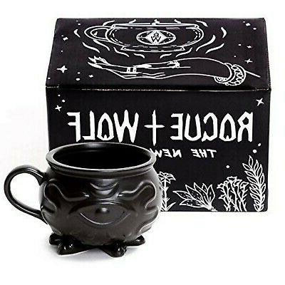 rogue wolf witch cauldron coffee mug in