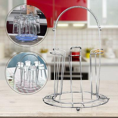Round Mug Glass Stand Cup Holder Kitchen
