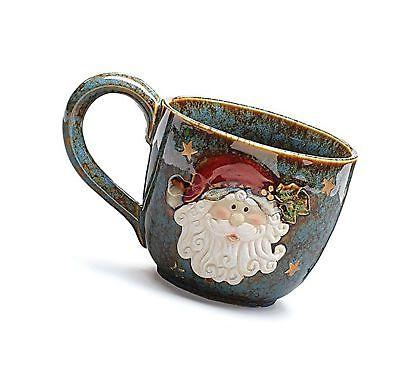 santa clause christmas soup mug