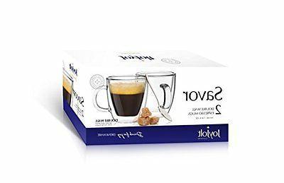 Savor Double Wall Insulated Of 2 5.4-Ounces Tea