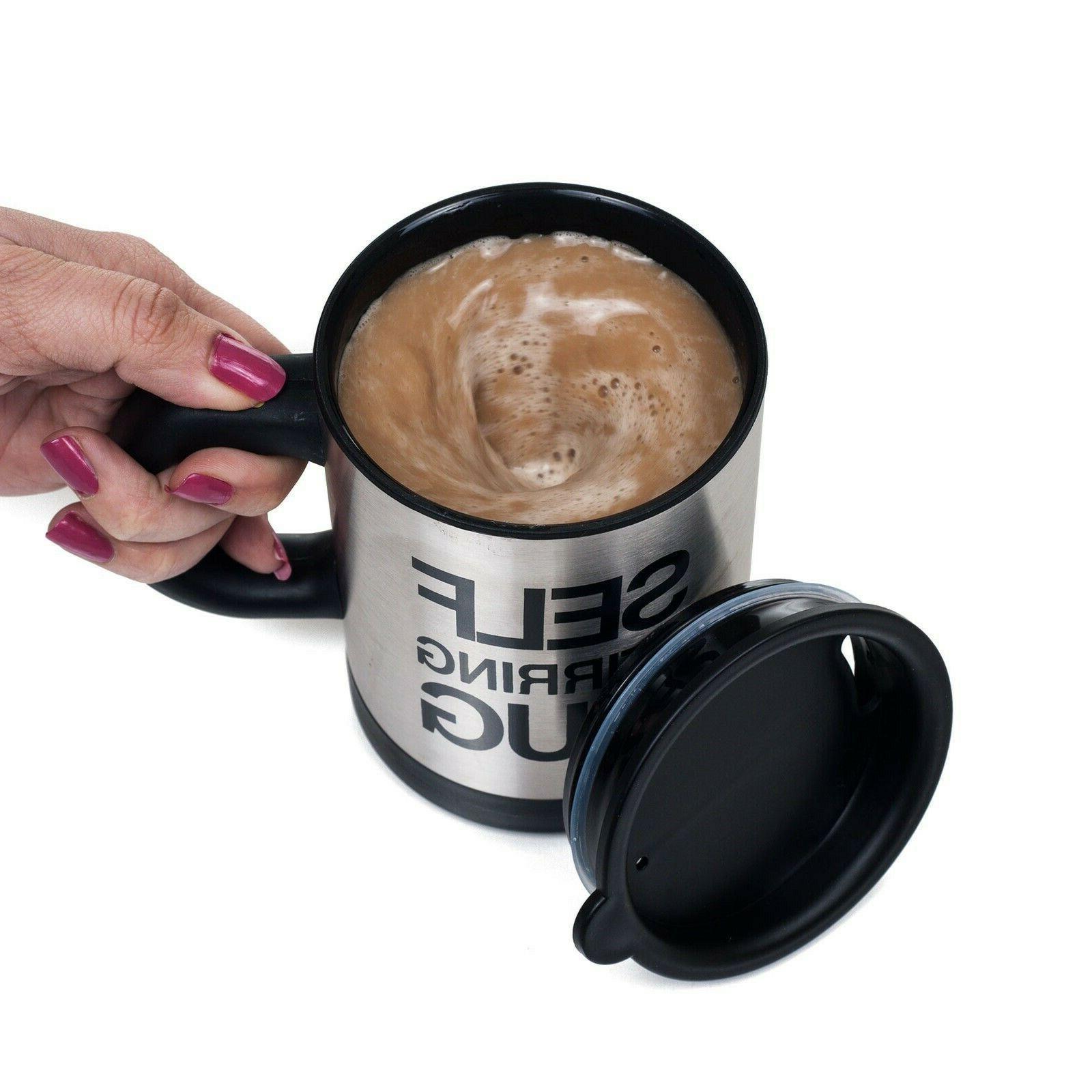 self stirring coffee soup tea mug