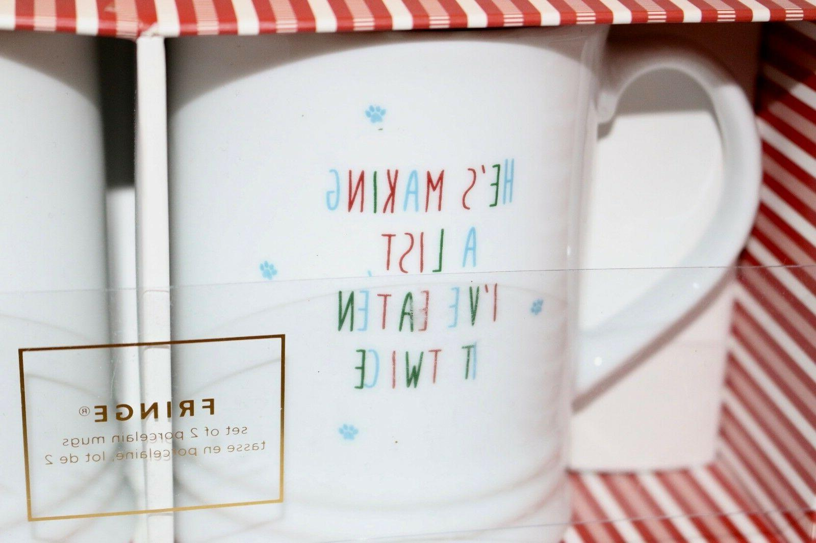 Fringe Set BOSTON TERRIER Holiday Christmas Coffee Tea Dog