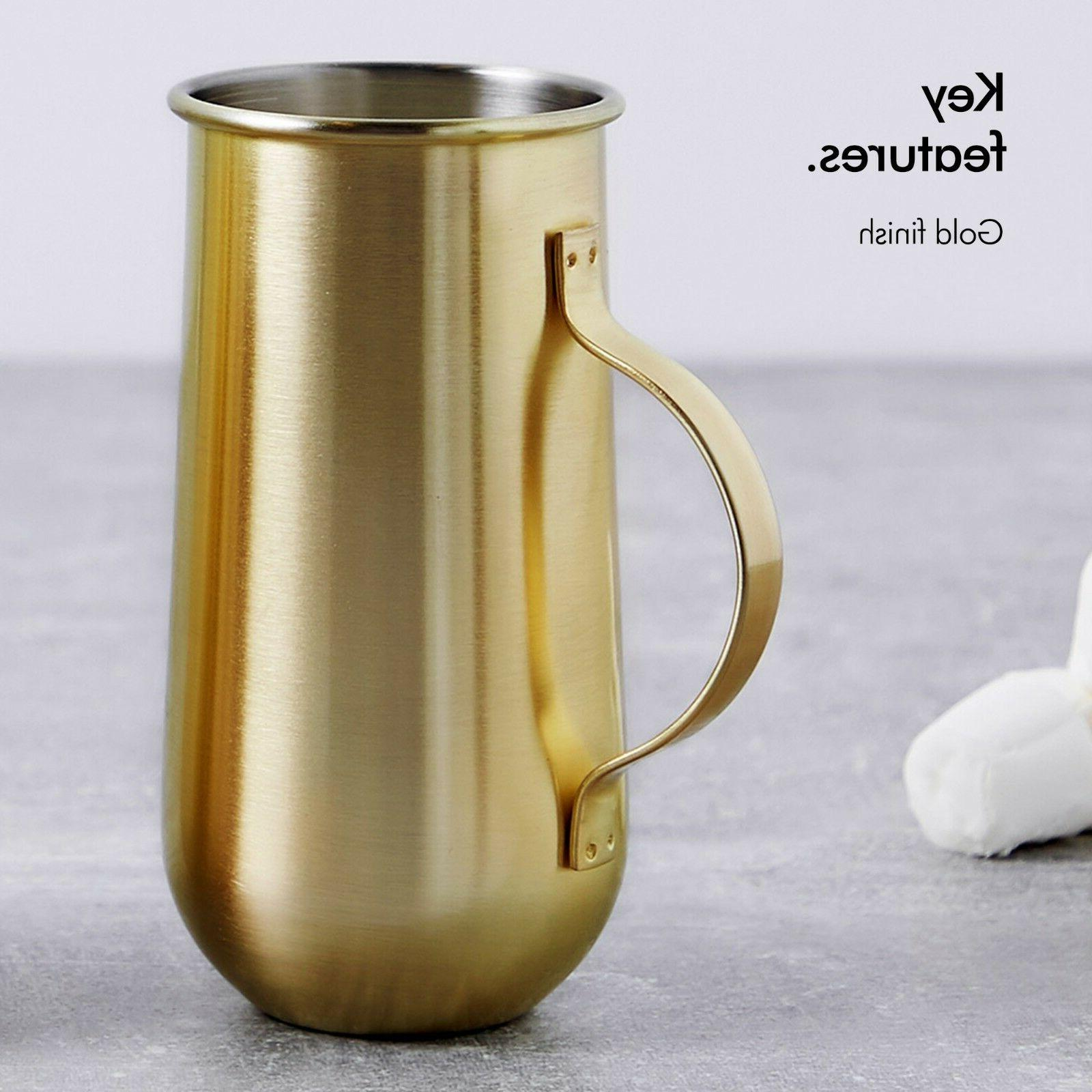 VonShef 2 Gold Mugs - Hot and Cold Drinks Gift Boxed
