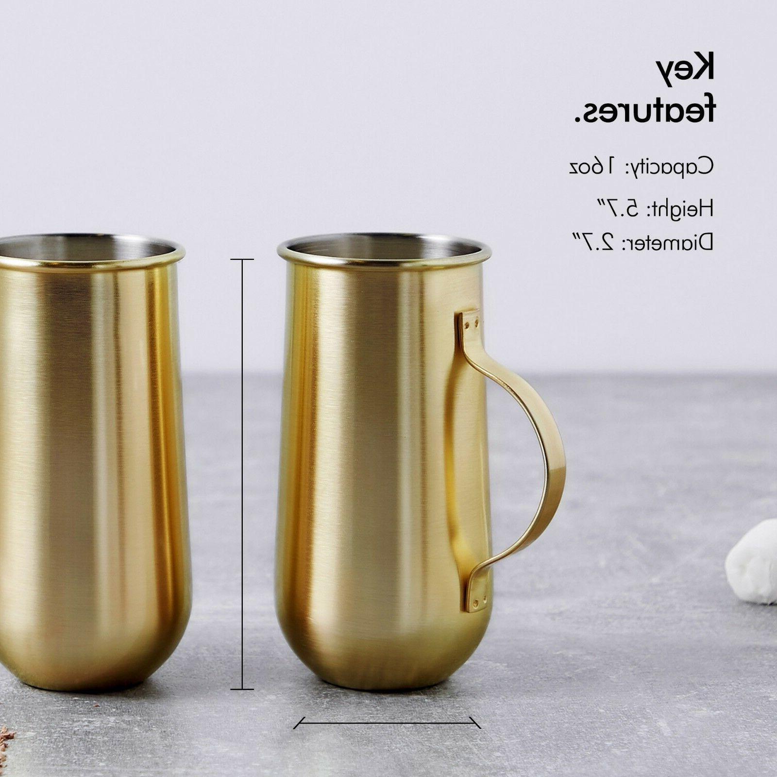 VonShef Set Gold Mugs - and Gift Boxed