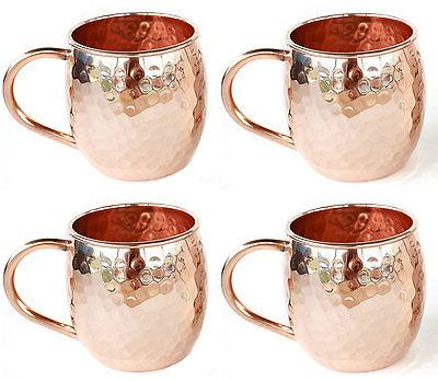 Set 4 Moscow Mule Barrel PURE oz Cups