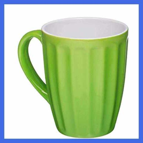 Set Of Sized 16 Ceramic Coffee Grooved Color