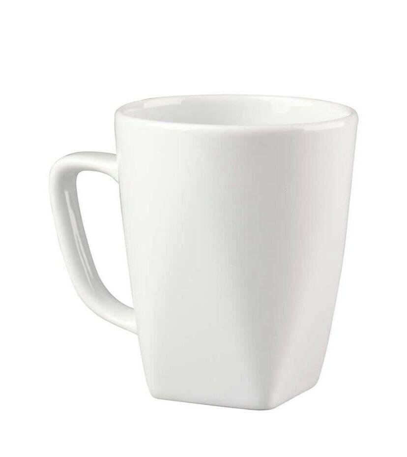 Crate & Barrel of 8 White Mugs